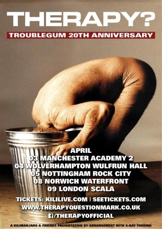 """Troublegum"" UK 20th Anniversary shows 2014 Poster"