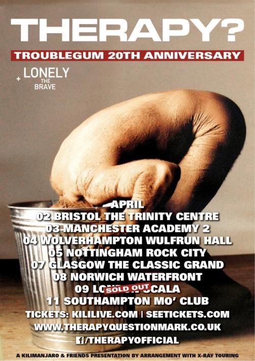 Troublegum anniversary tour poster 500px