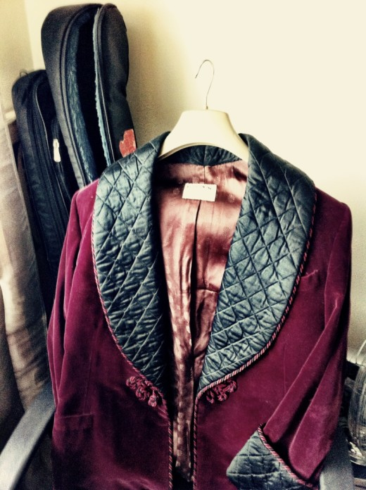 """The original """"Infernal Love"""" velvet jacket dusted off for the occasion"""