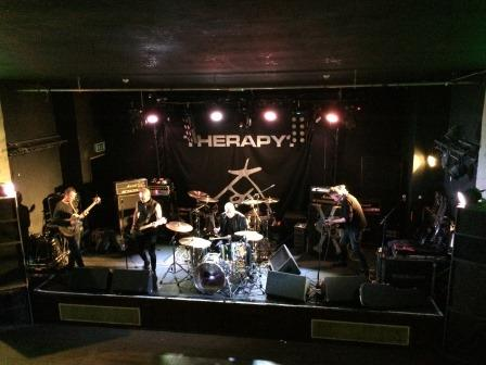 Keith Levine soundchecking with The Membranes