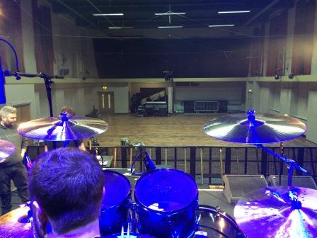 View from the drum riser Manchester soundcheck
