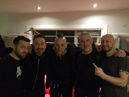Hanging out with 1/2 The Membranes after Nottingham show
