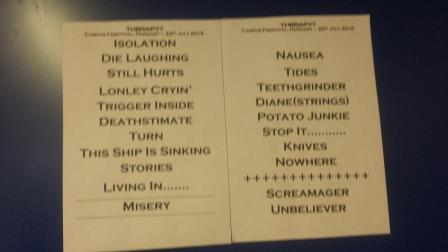 Hungary pic 3 set list